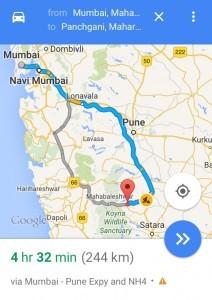 Mumbai to Panchgani