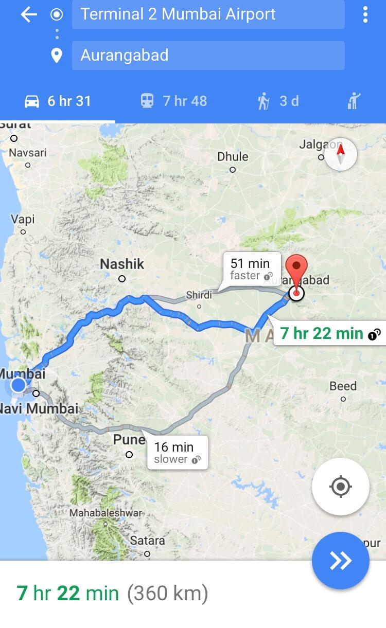 Mumbai to Aurangabad 1